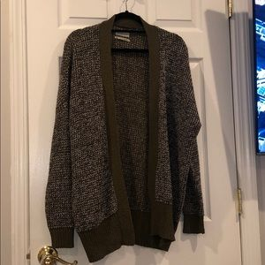 Never worn dark green Urban outfitters cardigan